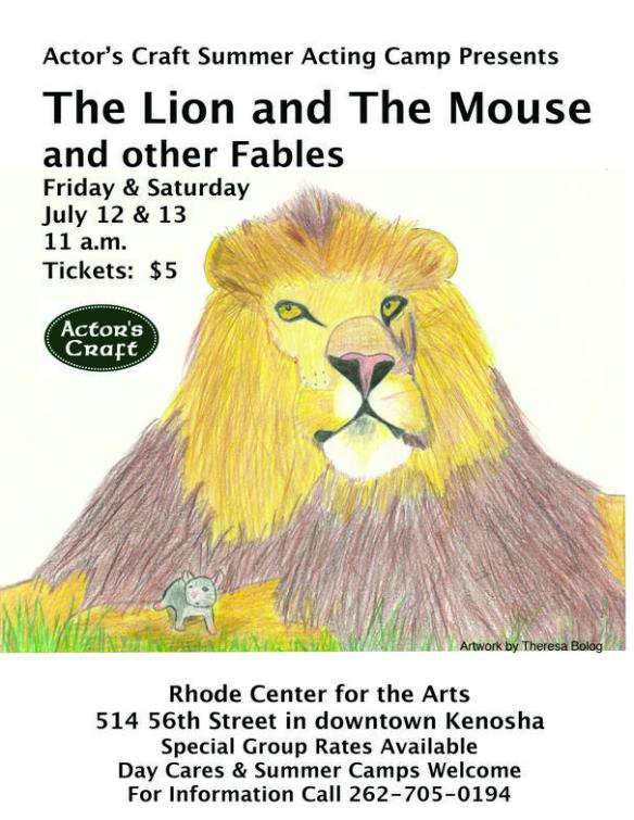 Lion and the BlkMouse Poster